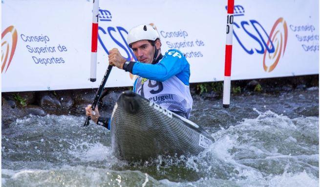 Ander Elosegi durante su descenso