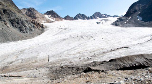 Una vista del glaciar de Pitztal