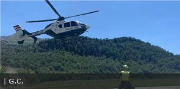 Rescate del montañero a cargo de la Guardia Civil