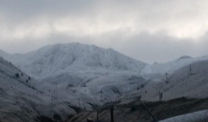 Así comienzana lucir las montañas