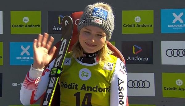 Bernadette Schild se lesionó la rodilla izquierda en Soelden y no volverá a competir esta temporada.