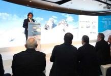 Ricard Font, presidente de FGC, presentando las novedades de las estaciones de invierno.