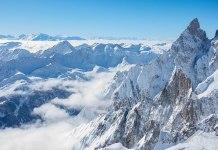 Una imagen de la cima italiana del Helbronner donde ha tenido lugar el alud