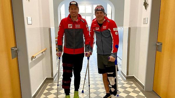 Reichelt y Neumayer, Nochevieja en el hospital. FOTO: ÖSV