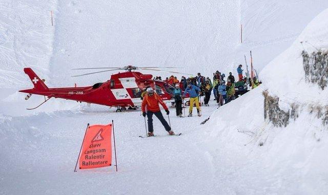 Rescate en el glaciar de Val Senales