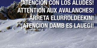 """""""¡Cuidado con los aludes! contiene recomendaciones básicas para seguridad"""
