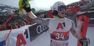Lucas Braathen, noruego de 19 años. Cuarto en el slalom de Kitzbuehel, a doce centésimas del podio, y el más rápido en la primera manga.