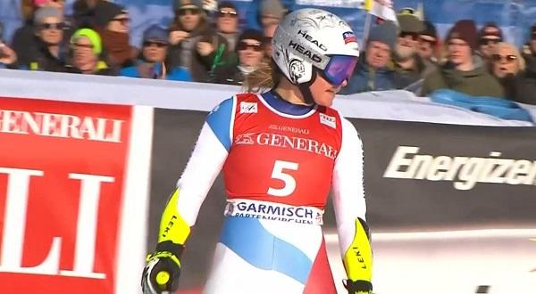 Corinne Suter ha sido la vencedora del super G de Garmisch Partenkirchen.