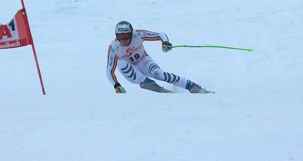 Thomas Dressen, el más rápido sobre una nieve muy difícil.