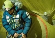 Una imagen del alpinista vasco antes de su ascenso al campo 2
