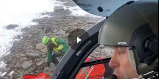 Una imagende l rescate en el Mulhacén el pasado mes de enero