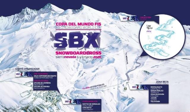 Ubicación de la pista de Snowboard cross