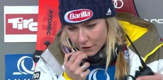 Mikaela Shiffrin ha dedicado una canción de apoyo a Italia y a Barilla, su patrocinador.