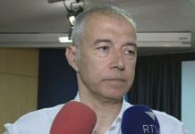 Joan Viladomat en rueda de prensa