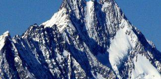 Imagen de archivo de la cima suiza del Lauteraarhorn
