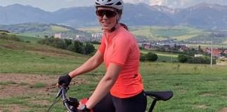 Petra Vlhova ya ha empezado a entrenar al aire libre con sesiones de bicicleta. FOTO: Instagram P.V.
