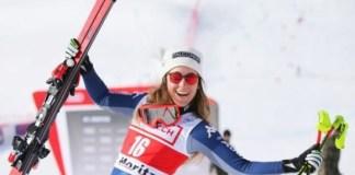 Sofia Goggia en el super G de St. Moritz, donde obtuvo su única victoria la temporada pasada.