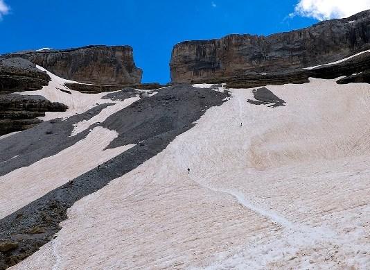 Vista de la Brecha de Rolando, lugar del accidente de los esquiadores