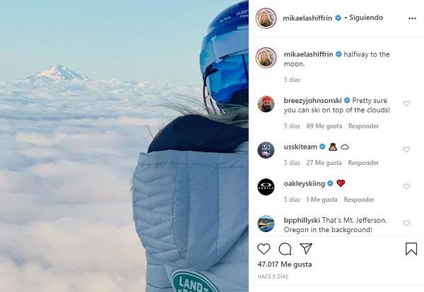 Shiffrin ha anunciado la vuelta a los entrenamientos sobre nieve en Mount Hood.
