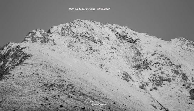 Nieve en la comarca del pirenaica del Pallars