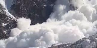 La avalancha fue filmada desde Jonction