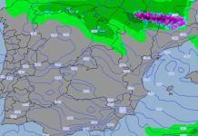 Las precipitaciones de nieve podrían acercarse a los 1.200 metros