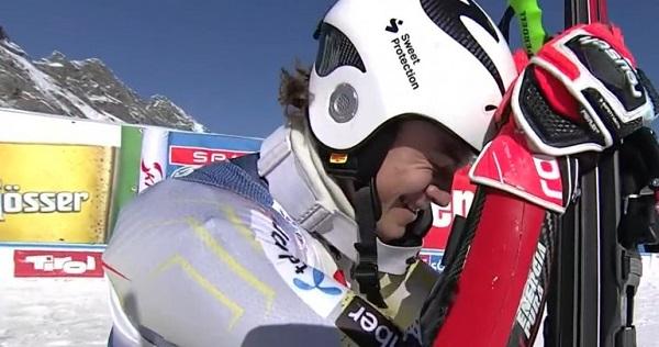 Lucas Braathen tras ganar el gigante de Soelden el domingo pasado.