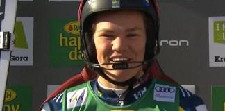 Anna Swenn Larsson lideraba el equipo sueco en los slaloms de Levi que ya no podrán disputar.