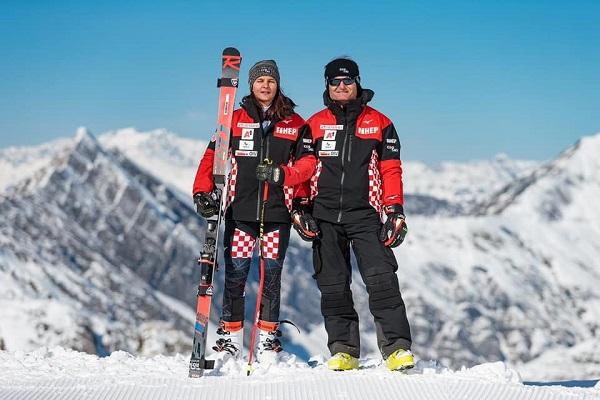 Con Amir, su padre, figura clave en la vida de Zrinka. FOTO: Facebook Rossignol Alpe Adria