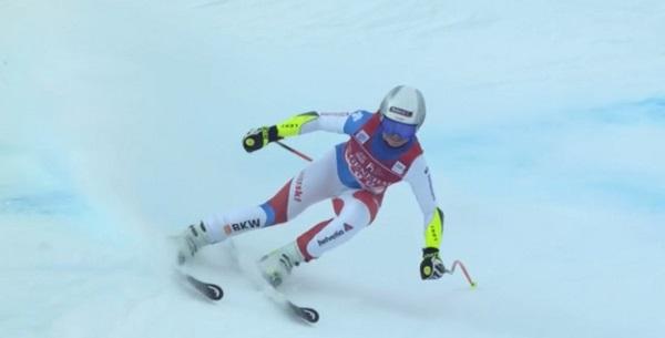 Una victoria y dos segundas plazas, el impecable balance de Corinne Suter en Val d'Isère.