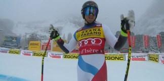 Mauro Caviezel ha dado la sorpresa y ha obtenido su primera victoria en la Copa del Mundo en el super G de Val d'Isère.