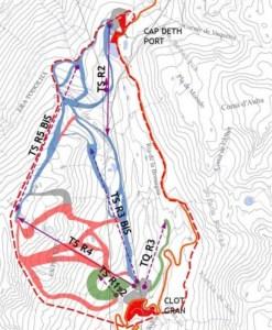 Mapa del proyecto .FOTO: Ajuntament d'Alt Àneu