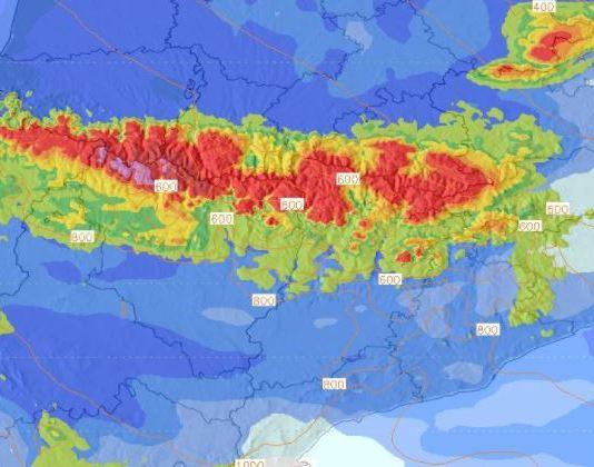 La nieve podría incluso superar el metro en algunas zonasf