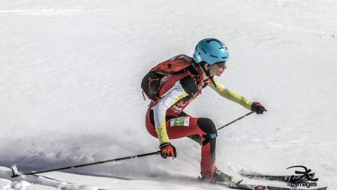 Una imagen de la catalana durante la carrera individual