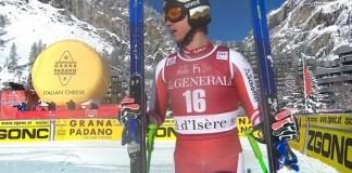 Reichelt en el descenso de Val d'Isère del pasado diciembre, en su reaparición tras un año sin competir.