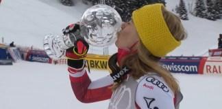Katharina Liensberger ha llegado para quedarse y romper el duelo Shiffrin-Vlhova. En un mes, campeona del mundo de slalom y hoy se lleva el Globo de la modalidad.