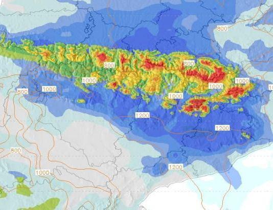 Los Pirineos pueden recoger más de 25 cm de nieve