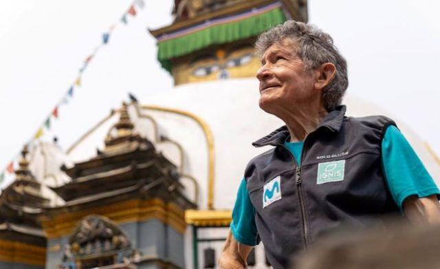 Soria a su llegada a Katmandú