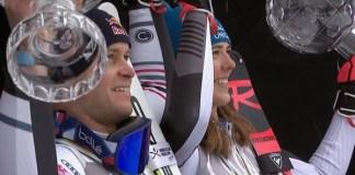 Alexis Pinturault y Petra Vlhova, los triunfadores de la pasada Copa del Mundo.