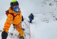 Una imagen de Jornet y Goettler durante su periodo de aclimataciín