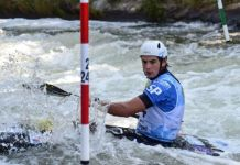 Pau Echainz durante la competición