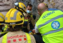 El chico cayó en una zona inaccesible y presentaba lesiones evidentes