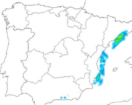 Solo algunas precipitaciones llegarán a puntos del mediterráneo y algunos puntos de montaña