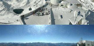 Pic du Midi 12 de octubre del 2020, y la misma imagen esta semana