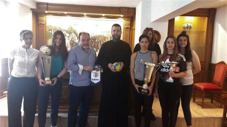 Επίσκεψη «Πρωταθλητριών» στην Ιερά Μητρόπολη Ν. Ιωνίας και Φιλαδελφείας