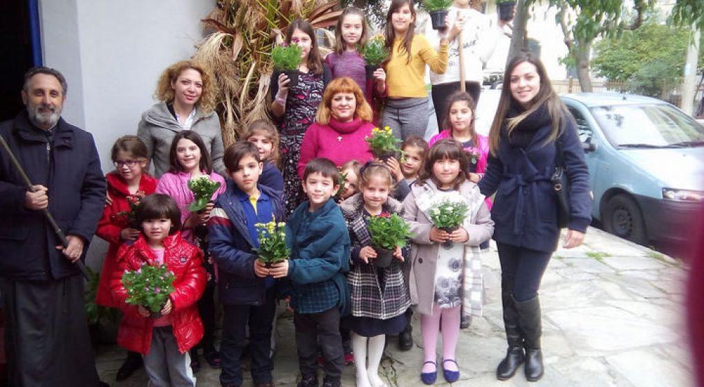 Ο νέος κήπος του κατηχητικού του Ι.Ν. Ευαγγελισμού της Θεοτόκου Ν. Χαλκηδόνας