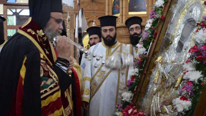 Υποδοχή Θαυματουργού Εικόνος Παναγίας «Βουρλιωτίσσης» στην Κύπρο