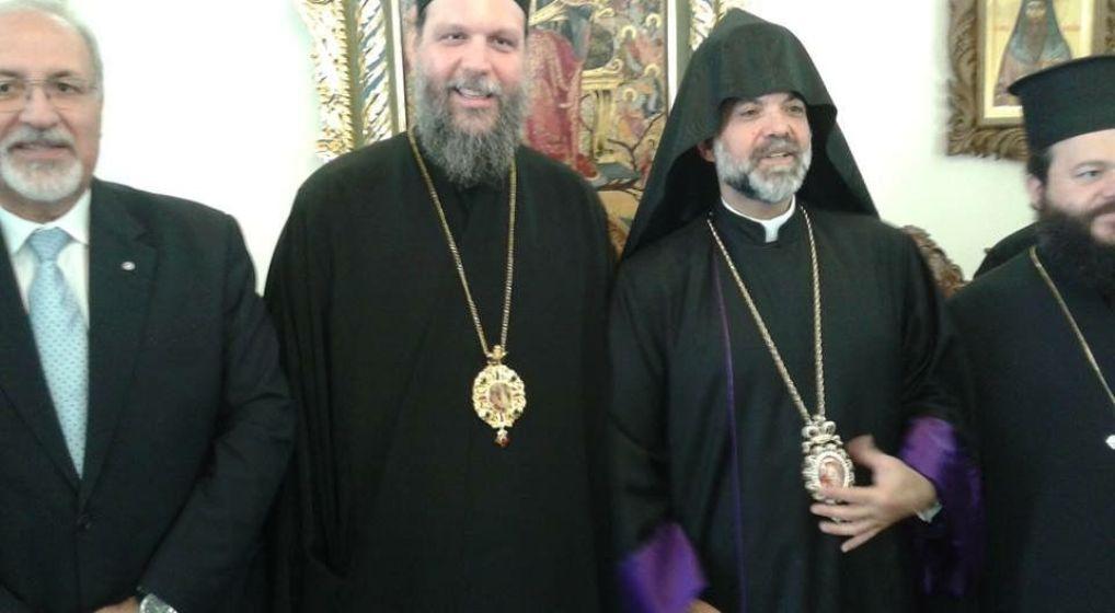 Mε τον Αρχιεπίσκοπο Ορθοδόξων Αρμενίων Ελλάδας συναντήθηκε ο Μητροπολίτης κ. Γαβριήλ