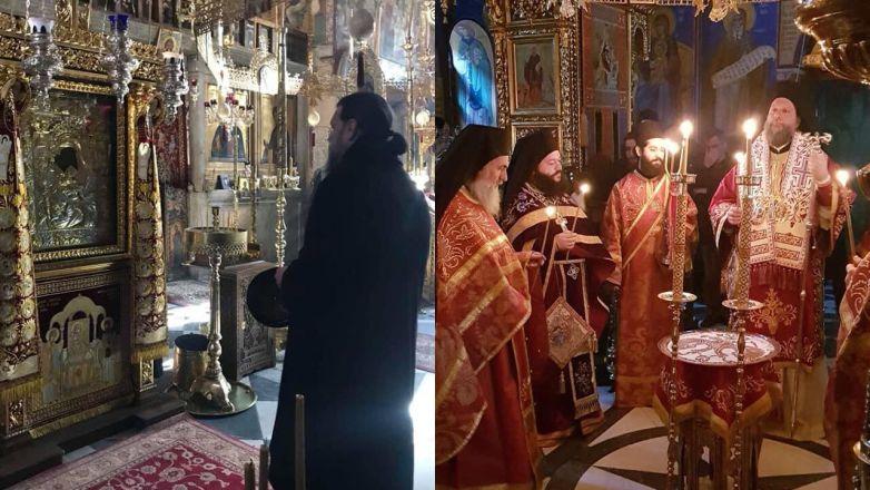 Ο Μητροπολίτης Ν. Ιωνίας κ. Γαβριήλ στον Άγιον Όρος για την εορτή των Χριστουγέννων