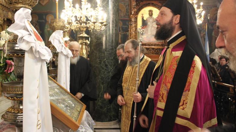 Η ακολουθία των Β' Χαιρετισμών στον Ι. Ν. Αγίου Στεφάνου Σαφραμπόλεως